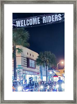 Welcome Riders Framed Print