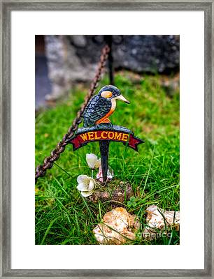Welcome Sign Framed Print by Adrian Evans