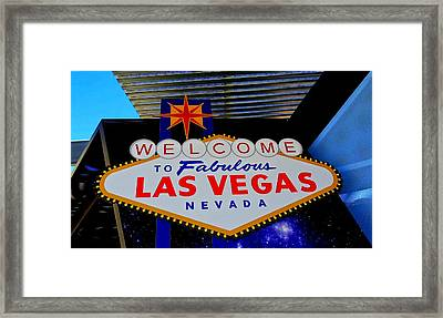Welcome Sign At Visitor Center Framed Print by Randall Weidner