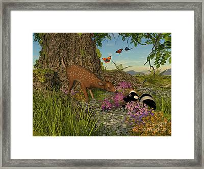 Framed Print featuring the digital art Welcome Spring by Methune Hively