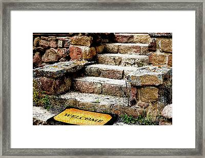 Welcome Steps Framed Print
