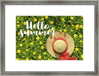 Framed Print featuring the photograph Welcome Summer by Teri Virbickis