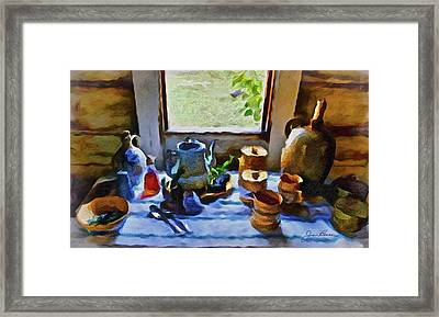 Framed Print featuring the painting Welcome Table by Joan Reese