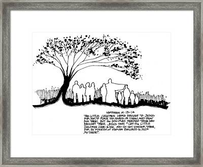 Welcome The Children Framed Print by Rich Brumfield
