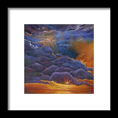 Prairie Sunset Framed Prints