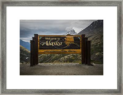 Welcome To Alaska Framed Print by Robin Williams