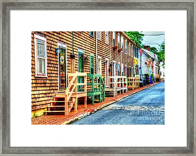 Welcome To Annapolis Framed Print by Debbi Granruth