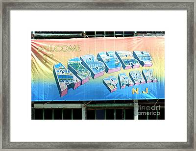 Welcome To Asbury Park Framed Print