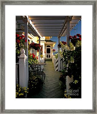 Welcome To Bay View Inn On Mackinac Island Framed Print