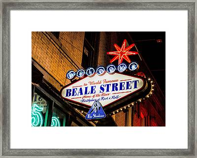 Welcome To Beale Street Framed Print by Stephen Stookey