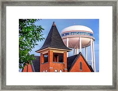 Welcome To Bentonville Arkansas Framed Print