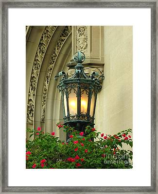 Welcome To Biltmore House Framed Print