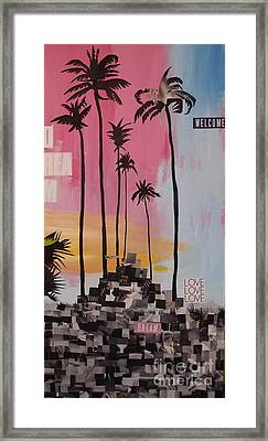 Welcome To California Dream Framed Print