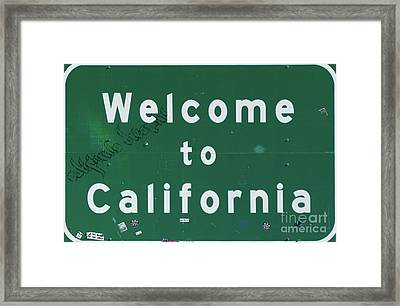 Welcome To California Framed Print