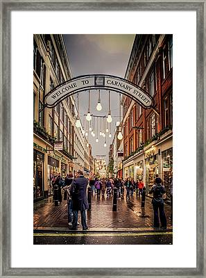 Welcome To Carnaby Street London Framed Print by Alex Saunders