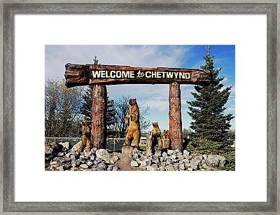 Welcome To Chetwynd Framed Print by Robert Braley