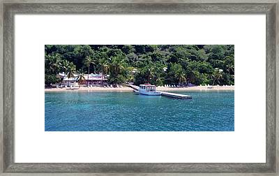 Welcome To Cooper Island Framed Print by Ginger Howland