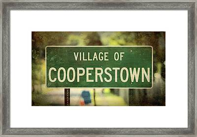 Welcome To Cooperstown Framed Print