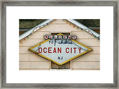 Welcome To Fabulous Ocean City N J Framed Print