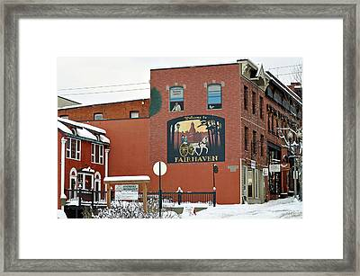 Welcome To Fairhaven Framed Print by Matthew Adair