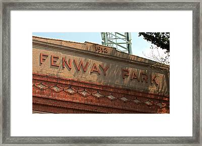Welcome To Fenway Park Framed Print