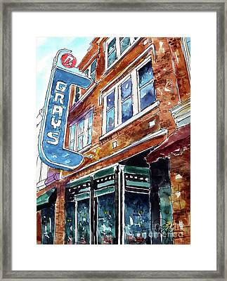 Welcome To Franklin Framed Print by Tim Ross