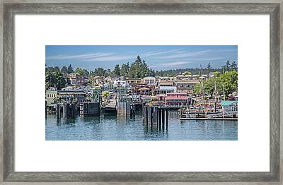 Welcome To Friday Harbor San Juan Island Framed Print