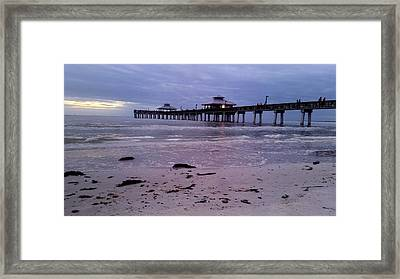 Welcome To Ft Meyers Beach  Framed Print