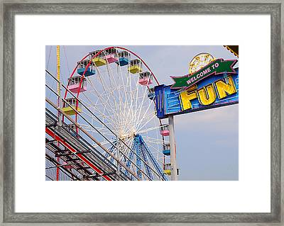 Welcome To Fun Framed Print