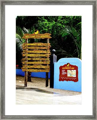 Welcome To Labadee Framed Print