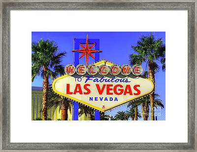 Welcome To Las Vegas Framed Print by Anthony Sacco
