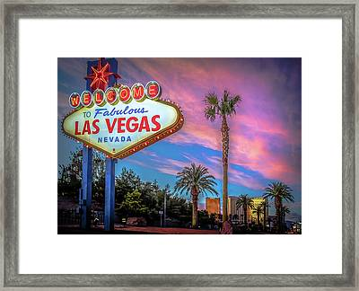 Welcome To Las Vegas Framed Print by Mark Dunton