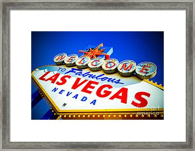 Welcome To Las Vegas Sign Framed Print by Amy Cicconi