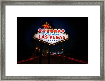Welcome To Las Vegas Framed Print by Steve Gadomski