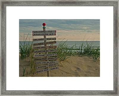 Welcome To Manasquan Framed Print