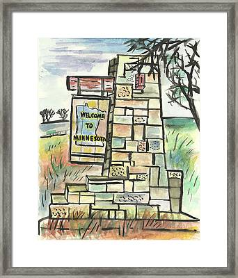 Welcome To Minnesota Framed Print by Matt Gaudian