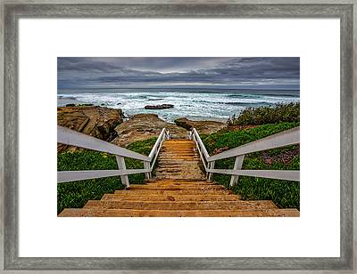 Welcome To My Beach Framed Print by Peter Tellone