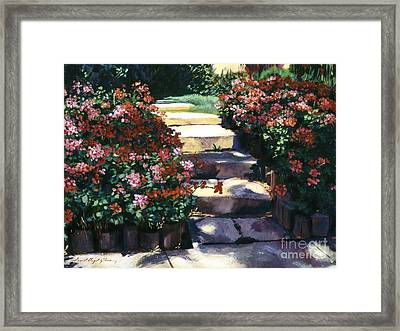 Welcome To My Garden Framed Print by David Lloyd Glover