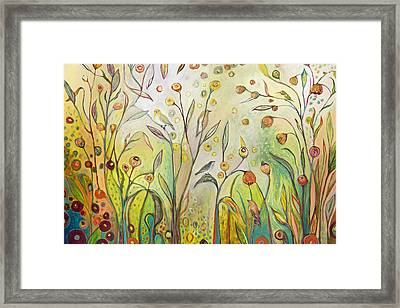 Welcome To My Garden Framed Print by Jennifer Lommers