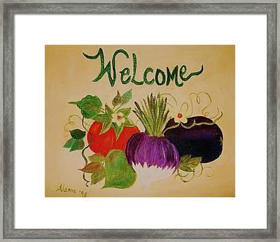 Welcome To My Kitchen Framed Print by Alanna Hug-McAnnally