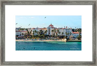 Welcome To Nassau Framed Print by Christopher Holmes