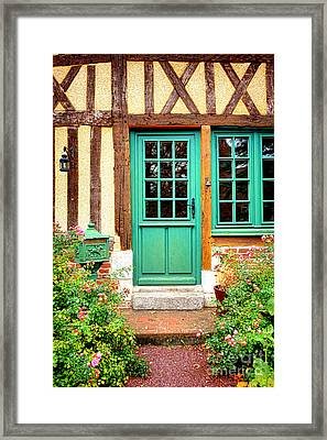 Welcome To Normandy Framed Print