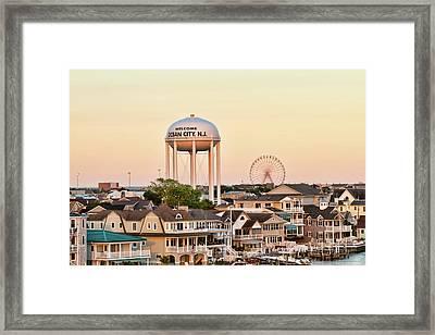 Welcome To Ocean City, Nj Framed Print