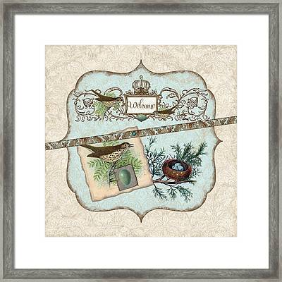Welcome To Our Nest Framed Print by Audrey Jeanne Roberts