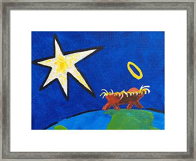 Framed Print featuring the painting Welcome To Our World by Chris Rice