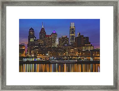 Welcome To Penn's Landing Framed Print by Susan Candelario
