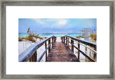 Welcome To Pensacola Beach Framed Print by JC Findley