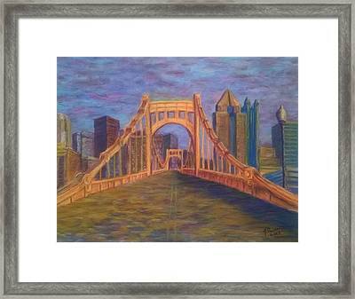Welcome To Pittsburgh Framed Print by Joann Renner