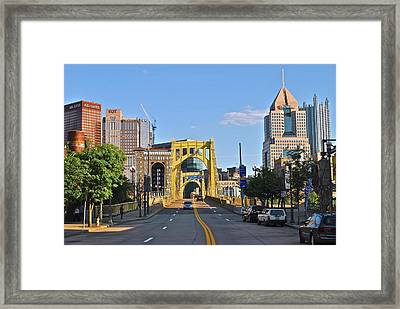 Welcome To Pittsburgh Pa Framed Print by Frozen in Time Fine Art Photography