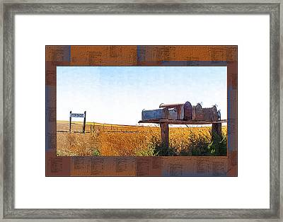 Framed Print featuring the photograph Welcome To Portage Population-6 by Susan Kinney